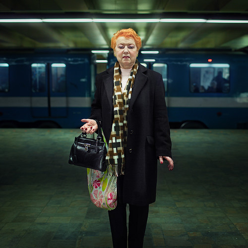 A stranger, Montreal subway, Kathy 74 years old
