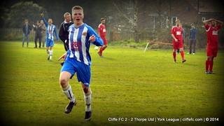 Cliffe FC 2 - 2 Thorpe Utd 8Mar14