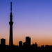 Tokyo Skytree Silhouette by lestaylorphoto
