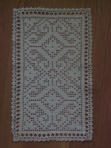 Filet Crochet Patterns - Afghans/Hangings - BUTTERFLY Picture