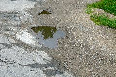 asphalt, puddle, soil, geology, road surface, rock,