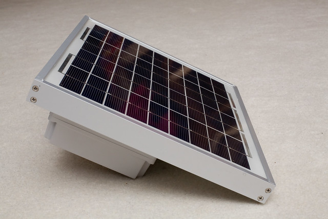 Solar charged battery