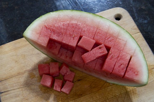 Watermelon, cubed