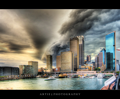 city cloud storm wet rain weather ferry architecture photoshop canon buildings bravo view angle cs2 wind cloudy wide sydney dramatic overcast australia stormy circularquay handheld newsouthwales therock 1020mm hdr severe artie 3xp sigmalens photomatix tonemapping tonemap 400d rebelxti sydneycircularquay