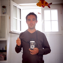A bathroom, a lubitel and me by Nicolas's Photography Le Mans