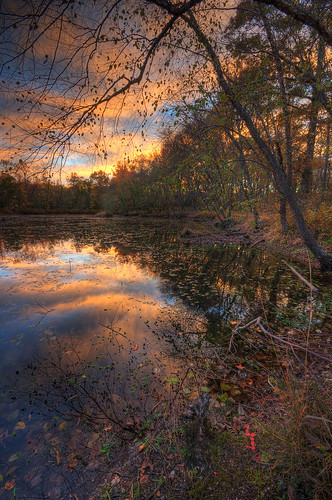 park autumn sunset reflection fall md dusk maryland ponds patuxent odenton
