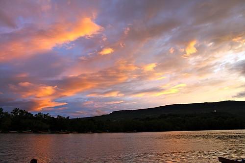 blue sunset sky orange rio azul clouds mexico atardecer cielo nubes naranja chiapas grijalva río méxico