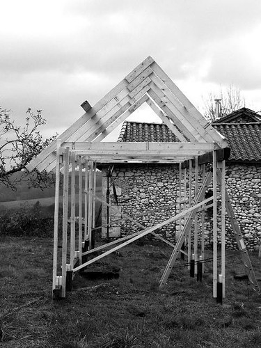Chicken Shed under construction