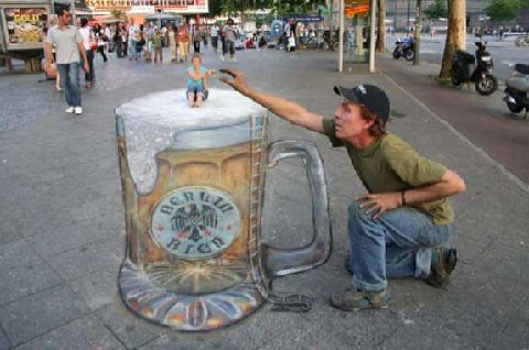 3D chalk drawings 25