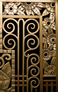art deco flower corners