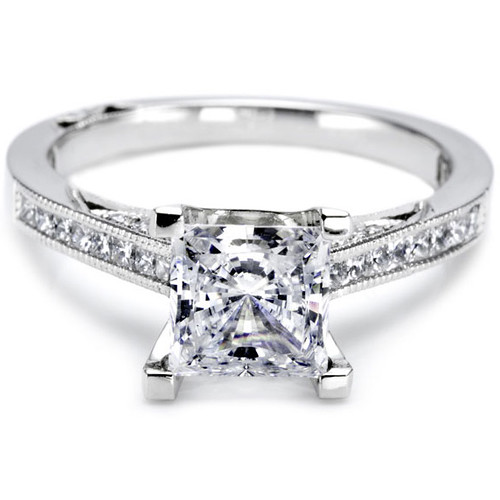Tacori Channel Set Princess Cut Diamond Setting Item T 2576