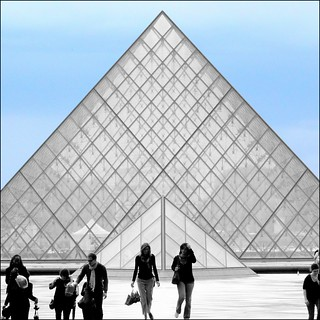 Quiet Days In Paris ~ La Pyramide du Louvre ~ MjYj