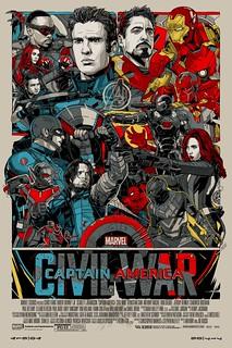 超人氣藝術家新作公開!《美國隊長3:英雄內戰》藝術海報 by Tyler Stout CAPTAIN AMERICA: CIVIL WAR