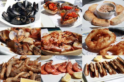 fish lunch restaurant spain catalonia espana catalunya vis 2009 schelp tarragona spanje mossel paling calamares catalonie inktvis schaaldier marisqueria lampolla botavara