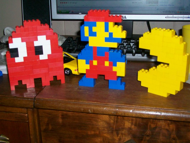 Lego Ghost, Mario, and Pacman - a photo on Flickriver
