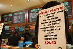 Sign - Lobster Platter - Fish Market Cafe AUD52.50