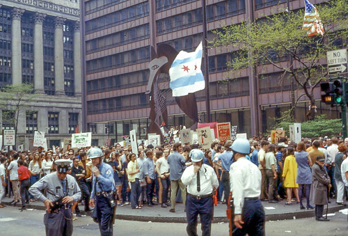 1970 Anti-War Rally in Daley Plaza in Chicago