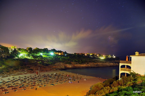 porto cristo novo , cala mandia  at midnight