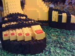 LEGO store models: Giant sandal feet