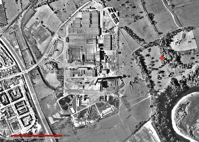 Red Scar House & Courtaulds Works Complex, Preston. Aerial Image c.1964