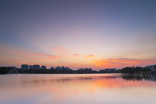 sunset sky west reflection tourism colors weather nikon singapore jurong 20mmf28ais d700