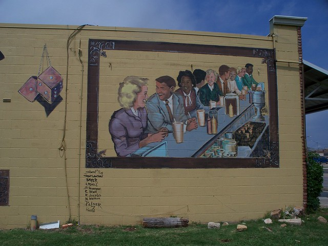Route 66 mural in edmond oklahoma flickr photo sharing for Route 66 mural
