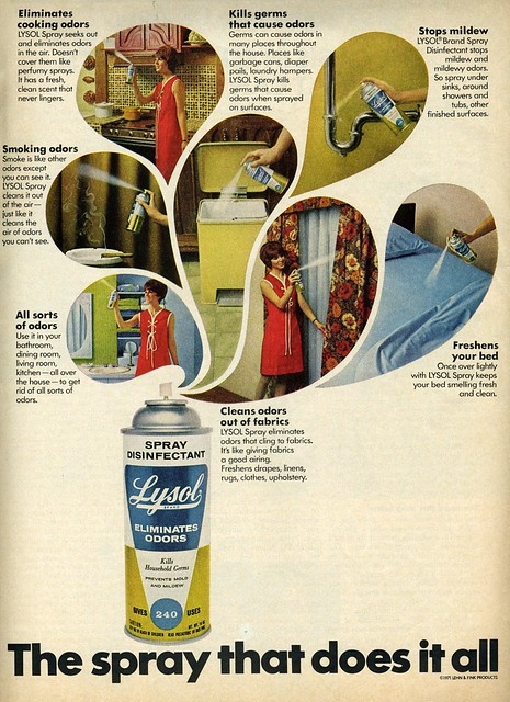 Lysol eliminates household issues...