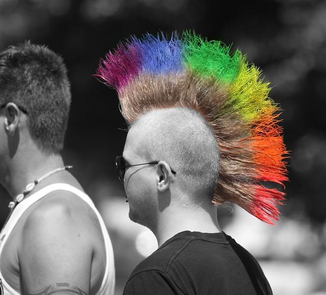Rainbow Mohawk | Flickr - Photo Sharing!