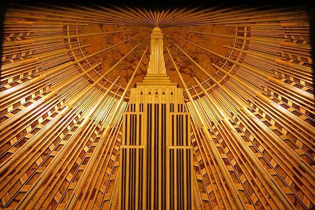 Empire state building lobby mural detail flickr photo for Empire state building mural