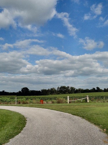 road blue sky green grass clouds rural fence country barrel indiana curve livonia washingtoncounty livoniacemetery dschx1