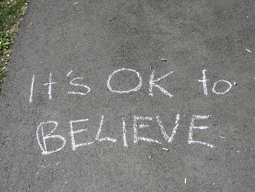 'It's OK to believe'