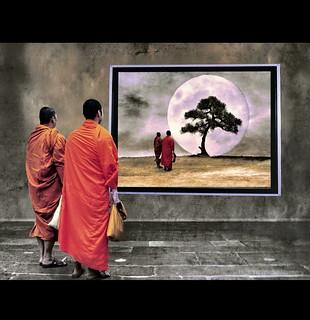 Meditation Two Monks