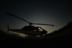 Chopper at night