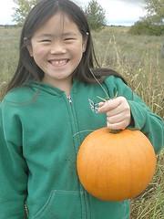 Sophia with Pumpkin