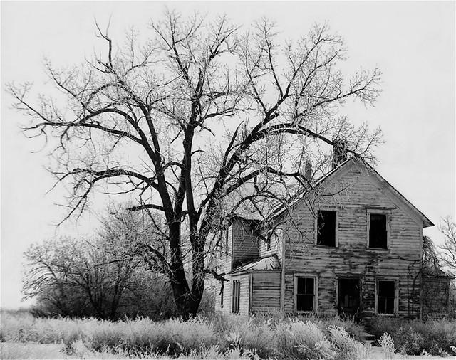 Photography Homage John Vachon Farm House Abandoned In