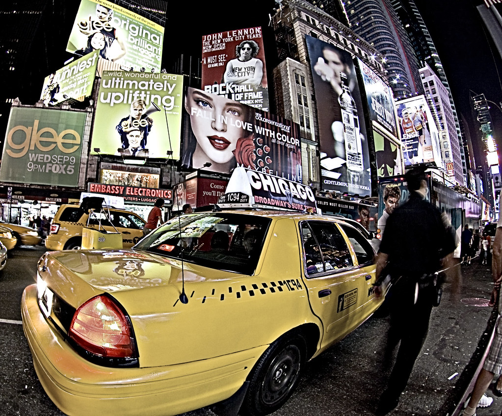 New York taxi time square