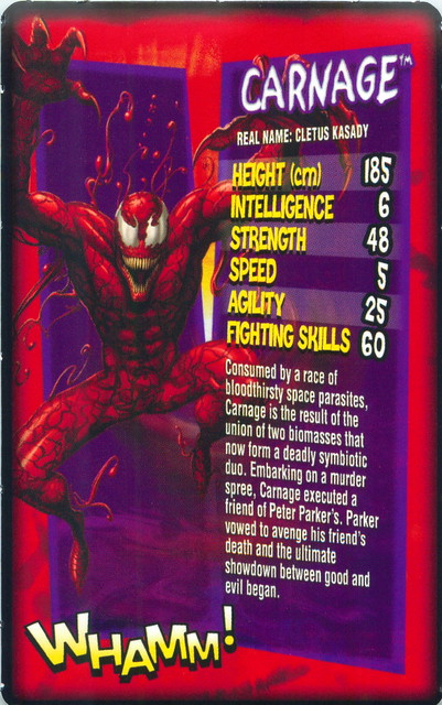 Daily Mirror Marvel Top Trumps Card