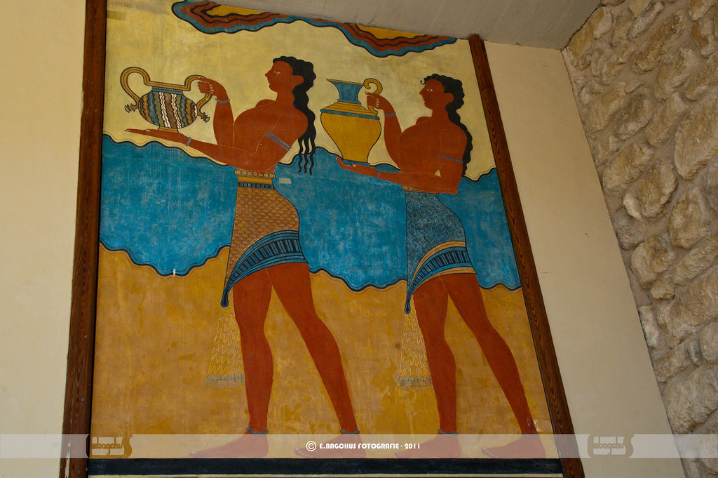 "Knossos Palace; Fresco ""Procession"""