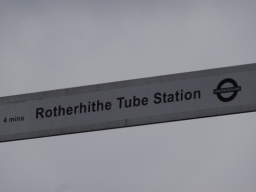 Rotherhithe Tube Station sign