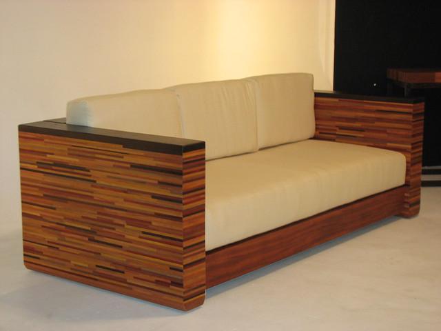 Modern African Sofa Laminated Wood 100 Cotton
