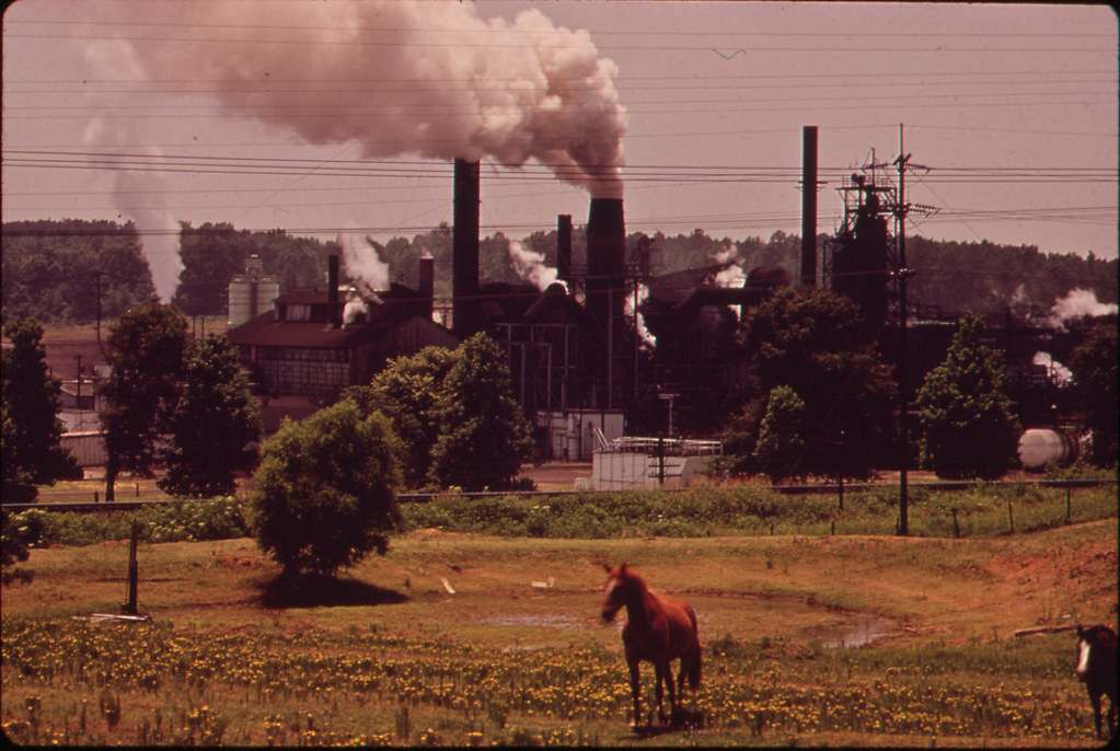The Atlas Chemical Company Belches Smoke across Pasture Land in Foreground. 06/1972