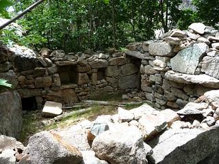 L'intérieur de la bergerie principale de Belle e Buone