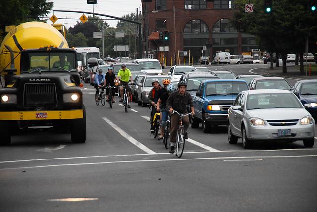 Bike traffic on Broadway-20