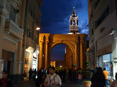 Peru Travel: Arequipa at night