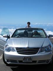Haleakala National Park, Maui: Kalahaku Overlook - John, Eileen and Sebring