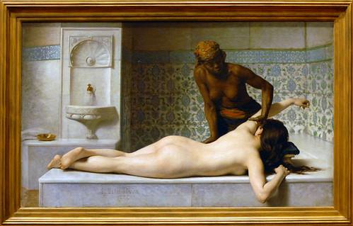 Le massage, scène de hammam (musée des Augustins, Toulouse)