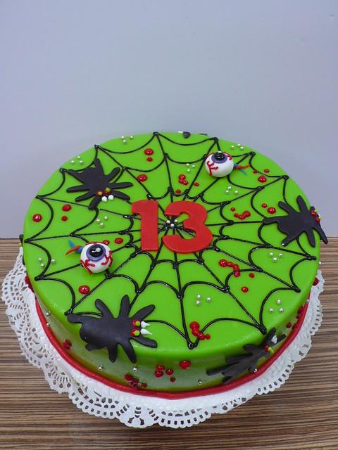 Creepy Crawly 13th birthday cake - a photo on Flickriver