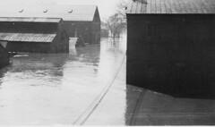 Flood of 1936 - Buildings under water