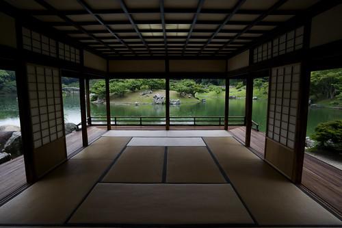 japan ritsurin 栗林公園 kikugetsutei 栗林 菊月亭