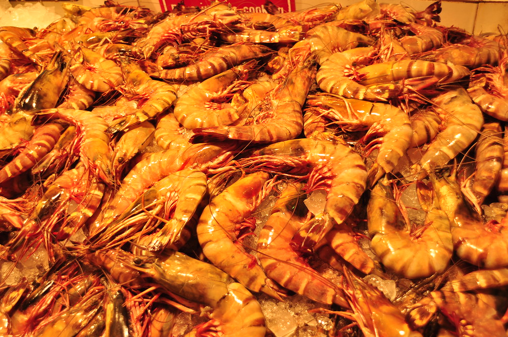 Choose your dinner - shrimps